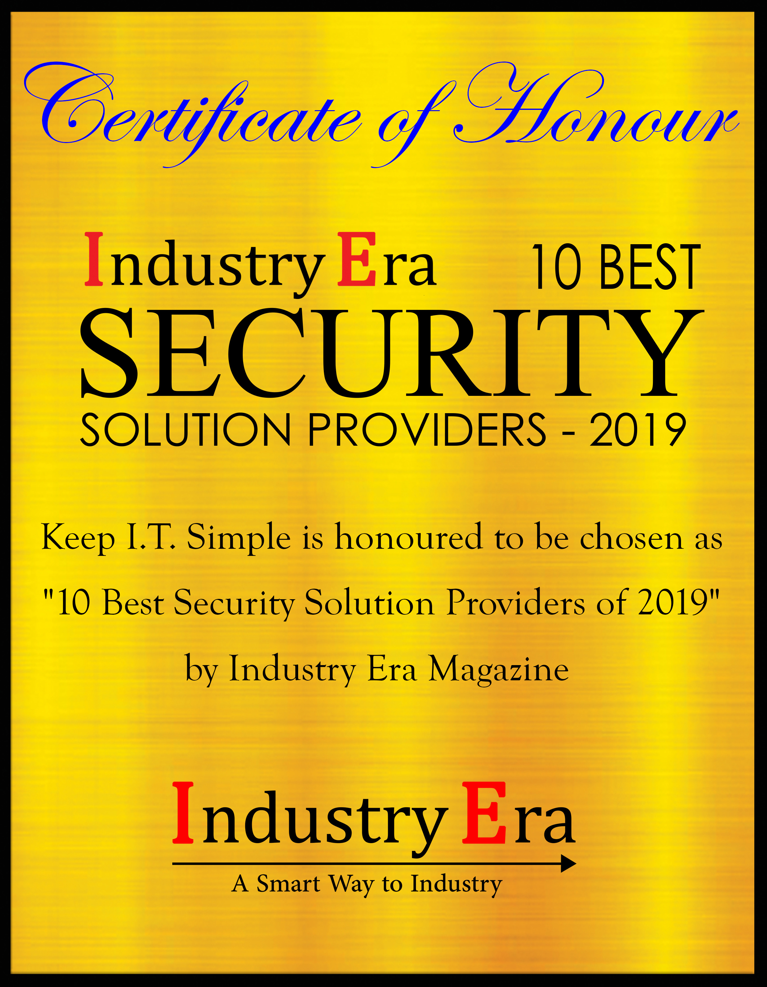 KIS_Top Security Solution Provider_2019